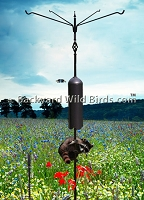Raccoon Proof Bird Pole Quad